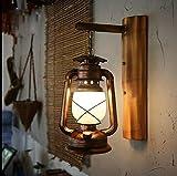 ZQ Retro Nostalgie Wand Lampe Korridor Kerosin Glas Pferd Lampe