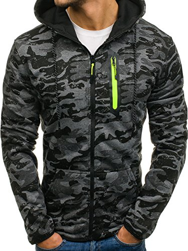 ae2b753b1fa2 BOLF Herren Sweatshirt mit Kapuze Pullover Camo Muster Army Militär J.STYLE  DD99-2