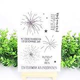 Ranuw Transparent Stempel (Feuerwerk) DIY Handwerk Silikon Clear Stamps Für Album Foto Sammelalbum Präge Scrapbooking
