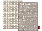Creative Tops algodón, La cafetera Café-Juego de servilletas de Tela