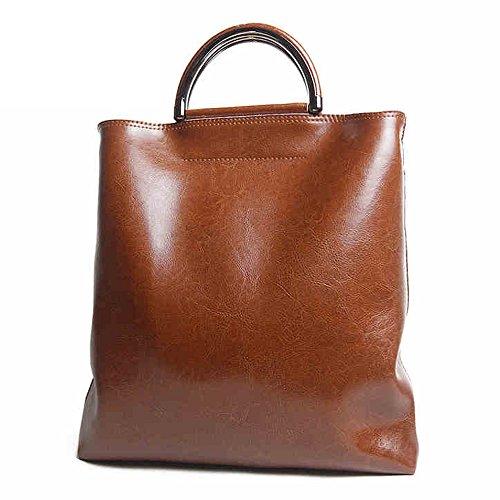 Leathario Borsa donna pelle vera tracolla nero spalla eleganti lavoro vintage cuoio fashion borsone sacca shopping weekend marrone