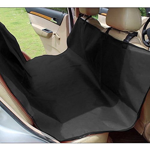 Wasserdichte Verschleißfeste Schutz Sitzauflage Haustier Hund Auto Sitzkissen Hintere Reihe Autositz Mat (Farbe : Schwarz)
