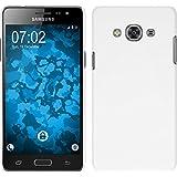 PhoneNatic Case für Samsung Galaxy J5 2017 Hülle weiß gummiert Hard-case für Galaxy J5 2017 + 2 Schutzfolien