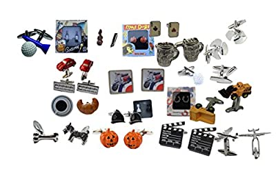 Selection of Top Novelty Cufflinks in Presentation tin