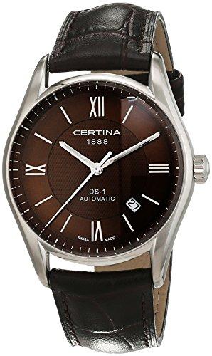 Certina Herren-Armbanduhr XL Analog Automatik Leder C006.407.16.298.00