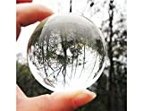 #2: 60mm Clear Round Glass Artificial Crystal Healing Ball Sphere Decoration(transparent)