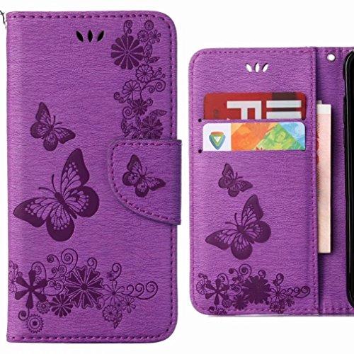 Funda Huawei P20 Lite Carcasa, Ougger Cuero Tapa Piel Billetera Magnética...