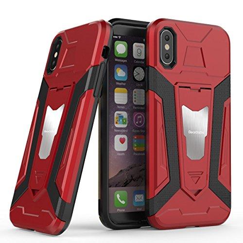 Iphone X Hülle Case/Ultra Schutz Tasche Hard und Slim/Zahlreiche Farben/Smartphone Handy/Ideal für Freizeit Arbeit und Reisen (Rot) (Ultra Farbe Roter)