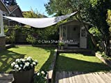Clara Shade Sail Garden Sun Sail Shade Pure White Waterproof Sun 98% UV Triangle 3.6m Premium Canopy Awning Patio Outdoor Indoor DIY
