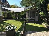 Clara Shade Sail Garden Sun Sail Shade Pure White Waterproof Sun 98% UV Triangle 3.6m Premium Canopy Awning Patio Outdoor Indoor DIY - Clara Shade Sails - amazon.co.uk
