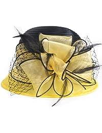 Amazon.es  Amarillo - Gorro de pescador   Sombreros y gorras  Ropa 2382ff08240