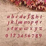 Xurgm Stencil con Lettere e Numeri per Scrapbooking, Embossing Machine, per Sizzix Big Shot/Cuttlebug e Altre perforatrici