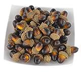 60pièces de glands artificiels marrons, semblables au réel, série de petits glands pour table d'automne, dessin, cuisine de maison et décoration d'automne