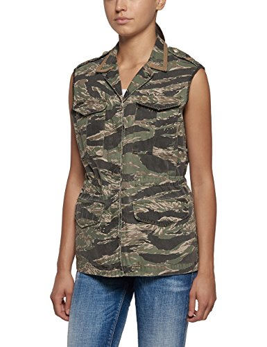 Replay Women's Women's Khaki Jacket 100% Cotton green