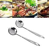 SimpleLife 2 Piezas de Acero Inoxidable Cuchara de Sopa Grande Skimmer colador Filtro Herramienta de Cocina