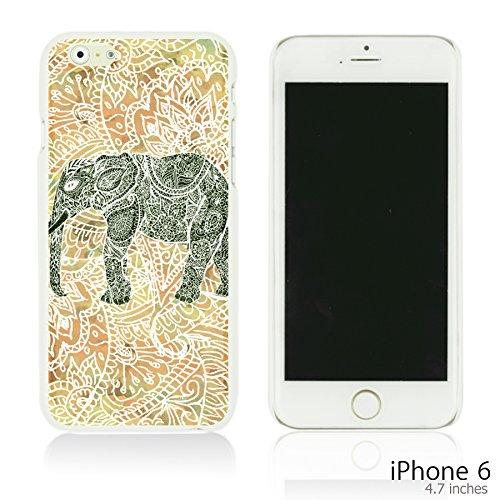 OBiDi - National Paintings Hardback Case / Housse pour Apple iPhone 6 / 6S (4.7 inch)Smartphone - Black Hunter Colorful Elephant ArtWork