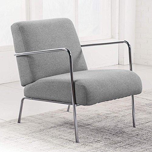 Butaca de espera tapizada modelo LOBBY Elegance color gris ceniza – Sedutahome