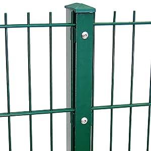 Zaun Gesamt Preis für 75m Zaun 1830mm Höhe RAL6005/grün Doppelstabmattenzaun, Gartenzaun, Metallzaun, Zäune, Tor, Gartentor,