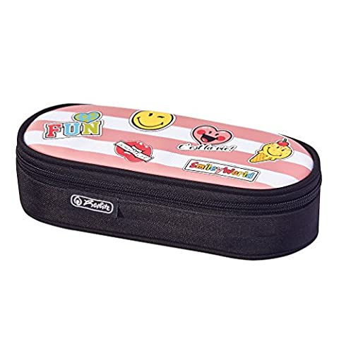 Herlitz Fourre-Tout Airgo Smileyworld Girly Trousses, 22 cm, Noir