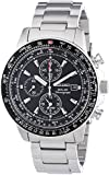 Gents Mens Stainless Steel Seiko Solar Chronograph Watch on Bracelet with Alarm & Date. SSC009P1