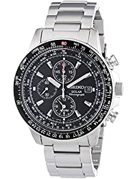 Seiko Herren-Armbanduhr XL Solar Chronograph Edelstahl SSC009P1