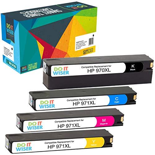 4 Do it Wiser Kompatibel Tintenpatrone HP 970XL 971XL für HP OfficeJet Pro X476dw MFP X576dw MFP X476dn MFP X551dw X451dw X451dn