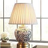 Moderne chinesische Keramik Tischlampe kreative dekorative Malerei 18 Tischlampe Schreibtisch Licht Seite Tischlampe für Wohnzimmer Schlafzimmer
