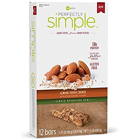 Zone Perfect Perfectly Simple Nutrition Bar, Almond Toffee Crunch, 12