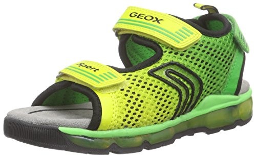 Geox J Sandal Android Boy Sandali a punta aperta, Bambini e ragazzi, Verde (Lime Green), 31