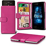 (Hot Pink) Allview P5 Energy Hülle Abdeckung Cover Case schutzhülle Tasche Verstellbarer Feder Mappe Identifikation-Kartenhalter-Kasten-Abdeckung ONX3