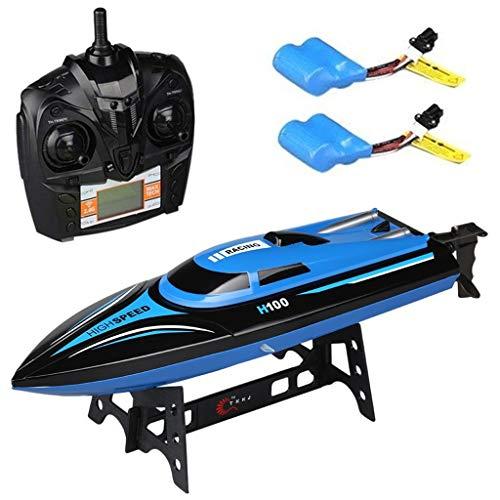 Virhuck RC Boot Ferngesteuertes Boot 2,4GHz 20MPH High Speed Boot mit Kapsel Standard Funktion Fernbedienung und Extra Batterie Spielzeug für Kinder-Blau
