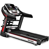 Powermax Fitness TDA-260 2HP (4HP peak) TOUCH SCREEN 7', WIFI Multifunction Motorized Treadmill with Auto-Inclination