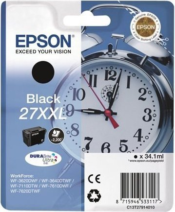 Epson C13T27914022  27XXL Cartuccia d'inchiostro compatibile con Epson Workforce XXL, Nero