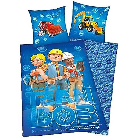 Bob the Builder - Bambini Sacco Copripiumino e Federa 80/80 x 135/200cm