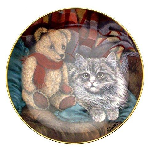Franklin Daydreaming Sue Willis Teller mit Teddybär-Motiv, Mint Franklin Teller