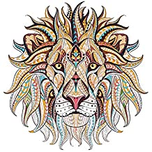 Alley.L DIY Parche de Ropa - Estilo étnico Cabeza de león patrón Camiseta Transferencia