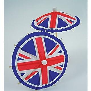 Amscan International 994852 Union Jack Umbrella Pick, Red/White/Blue