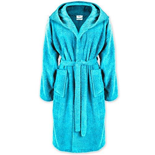Gräfenstayn® Damen & Herren Bademantel mit Kapuze S-XXXL 100% Baumwolle in verschiedenen Farben mit Öko-Tex Siegel Standard 100: