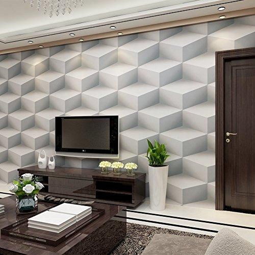 hanmero papier peint moderne trompe l 39 il vinyle effet 3d solide pour chambre salon tv fond 0. Black Bedroom Furniture Sets. Home Design Ideas