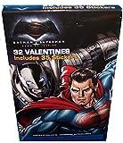 32DC Comics Batman VS Superman Cartes de la Saint Valentin avec 35stickers