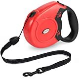 Retractable Dog Lead, Trèsutopia Freego 8M Dog Leash Pet Lead for Small Medium Large Dogs up to 50KG, One Button Break & Lock with Reflective