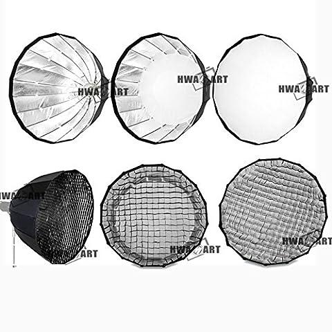 HWAMART ® Para softbox pliable réflecteur parapluie softbox pour Parabolique