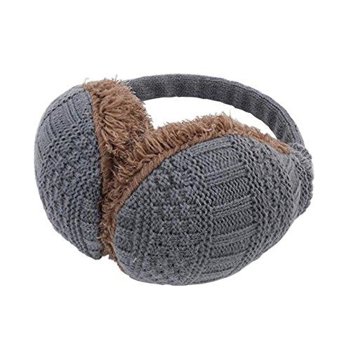 Très Chic Mailanda Paraorecchie caldo inverno lavorate a maglia di della Peluche
