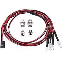 Recambio de lámpara para camión de 4 ledes, color blanco y rojo, para TRAXXAS HSP