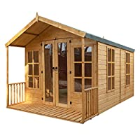 WALTONS EST. 1878 10 x 8 Wessex Summerhouse, 10ft x 8ft tongue and groove Summer House, 10 year anti-rot guarantee