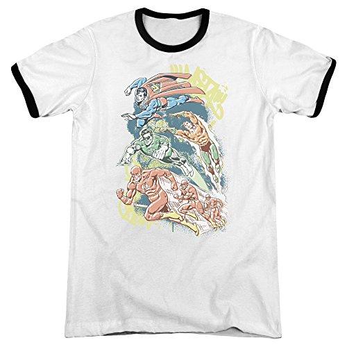 DC Comics Herren T-Shirt weiß / schwarz
