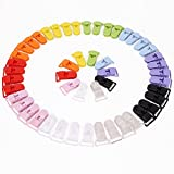 VORCOOL 50pcs 10 Colors T-shape Plastic Baby Dummy Pacifier Clips Badge Clips Bib Holders (Random Color)