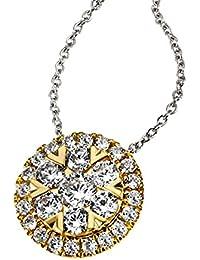 Goldmaid Damen-Kette mit Anhänger 585 Gelbgold Diamant (0.49 ct) weiß Brillantschliff 45 cm-Pa C7694GG