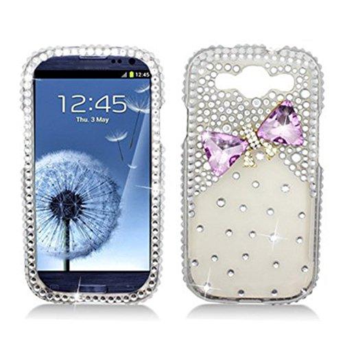 SODIAL(R) Hartschale mit 3D Schleife aus Strass fuer Samsung i9300 Galaxy S III - AT&T, Verizon, Sprint, T-Mobile (S Phone Galaxy 3 Sprint)