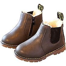 Stivali in pelle ragazze, Bambini de ragazzi Invernali caldo morbido Martin Stivaletti casual scarpe Boots
